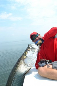 paul with one of his fly caught tarpon from last season