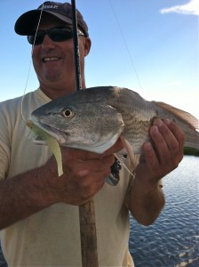 Wardy Moore with a nice puppy drum