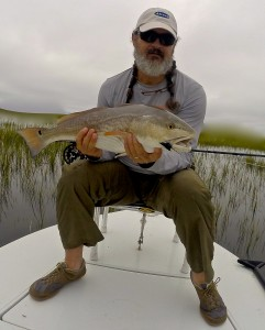 Dave With a nice red taken in the grass